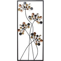 Stratton Home Decor Simple Floral Panel Wall Art, Multi/None
