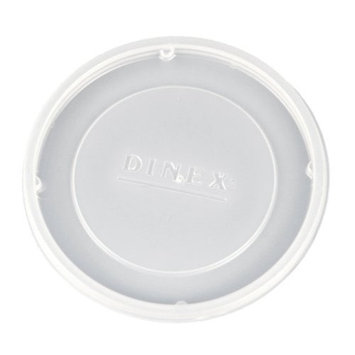 Dinex DX11838714 Classic Polystyrene Disposable Lid, Translucent, For 8oz Insulated Bowl (Case of 1000)