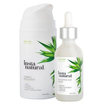 InstaNatural Nourish & Tighten Skin Duo with Hyaluronic Serum and Vitamin C Moisturizer- Beauty Bundle, 2 Oz & 3.4 Oz