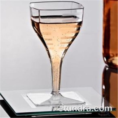 EMI Yoshi EMI-SWG2 Squares Mini Wine Glass 2 oz - Pack of 35407 - Clear
