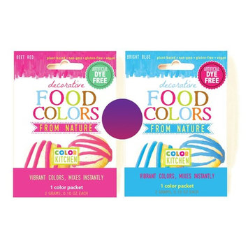 ColorKitchen 0.1 oz. Food Color Packet Combo - PURPLE (Pink + Blue)