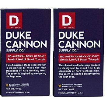 Duke Cannon Men's Bar Soap - 10oz. Big American Brick Of Soap By Duke Cannon - Naval Triumph (2 Pack)