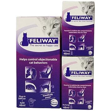 Ceva Feliway Plug-In Diffuser for Cats [Standard Packaging, Diffuser & 3 Refills]
