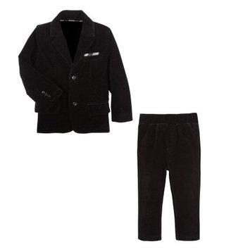 G-Cutee Newborn Baby Boy Velvet Blazer and Pant 2pc Suit Set