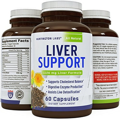 Natural Liver Detox - Solarplast + Pure Milk Thistle Complex - Potent Enzymes for Protein and Fat Digestion – Liver Cleanse Supplement for Men & Women – 60 Veggie Caps - Guaranteed