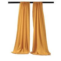 LA Linen BDpop96x58-Pk2-GoldP14 Polyester Poplin Backdrop Drape Gold - 96 x 58 in. - Pack of 2