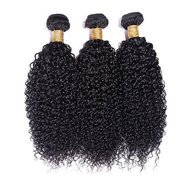 Wigsforyou Afro Kinky Curly Brazilian Curly Weaves Hair Bundles Human Hair Extensions Weft Wave 1 Bundels Natural Color(1pc/lot, 50g/pc)