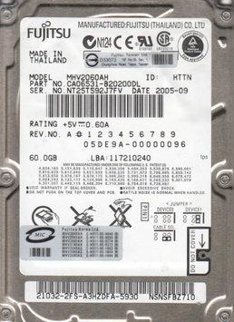 Fujitsu 60GB 5400RPM ATA-6 2.5 IN FDB 2.5 Notebook Hard Drive