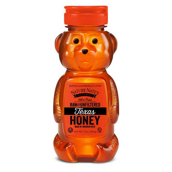 Nature Nate's 100% Pure Raw & Unfiltered Texas Honey; 12-oz. Bear Bottle; Sweet Southern Honey Just as Nature Intended; No Additives, Preservatives or Fillers; From Texas Bees in The Lone Star State