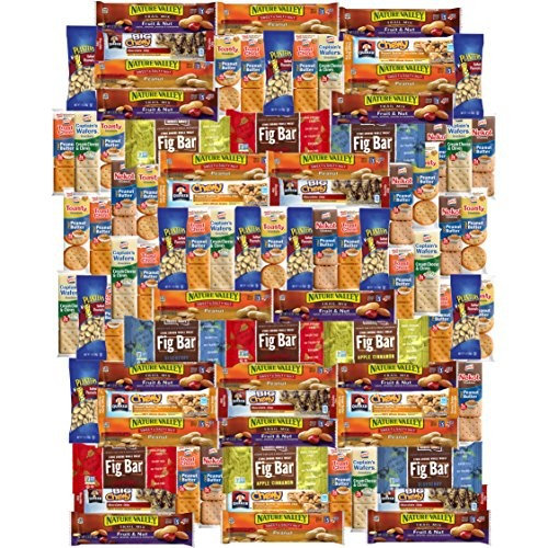 Ultimate Care Package Healthy Bars, Crackers, Nuts & Snacks Gift Variety Pack Assortment Bulk Sampler (85 Count)