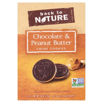 Back To Nature Foods Co., Llc Back To Nature, Cookies Chocolate Peanutbutter Cream, 9.6 Oz (Pack Of 6)