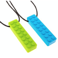 Niynauk's Sensory Chew Necklace - Chewable Jewelry for Autism, Grinding, Teething, Chewing - for Kids, Teens and Adults - Chewelry Chewing Pendant for Grinding, Biting, ASD, ADHD, Anxiety (2 pack)
