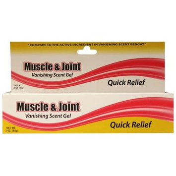 DDI 334918 3 oz Muscle and Joint Vanishing Scent Gel Case of 72