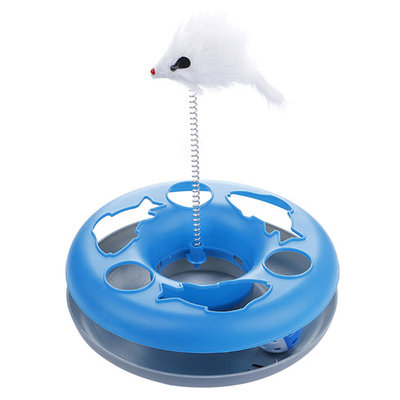 Cat Spring Toy, Legendog Interactive Captive Bell Ball Spring Mouse Cat Toy Cat Track Toy