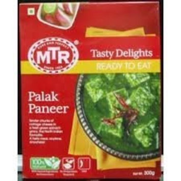 MTR Ready-to-eat Variety Pack - Palak Paneer - 300g / Shahi Paneer - 300g / Paneer Butter Masala - 300g (Total of 3 Packs)