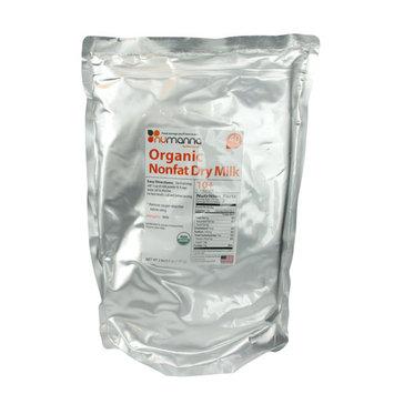 NuManna Organic Nonfat Dry Milk Powder USDA Organic 40 Serving Pouch