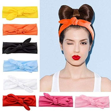 Women Headbands 8 Pack Turban Headwraps Hair Band Bows Accessories for Fashion and Sports, 8 Colors