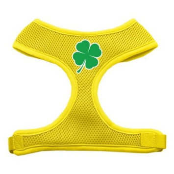 Mirage Pet Products Shamrock Screen Print Soft Mesh Dog Harnesses, Medium, Yellow