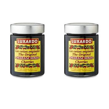 Luxardo Gourmet Maraschino Cherries - 400g Jar - 2 Pack