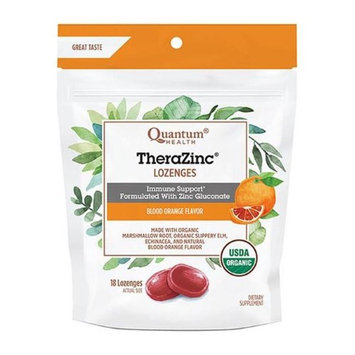Quantum 231740 18 Count Thera Zinc Blood Orange Lozenges Bag