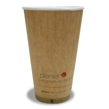 Planet + 100% Compostable PLA Laminated Double Wall Insulated Hot Cup, 20-Ounce, 600-Count Case [20 Ounce]