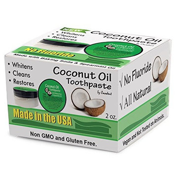 Coconut Oil Teeth Whitening Baking Soda Toothpaste 2 Pack