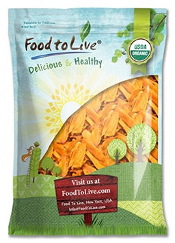 Food To Live ® Organic Mango Strips (Dried, Non-GMO, Unsulphured, Unsweetened, Bulk) (9 Pounds)