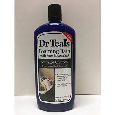 Dr Teal's Activated Charcoal & Lava Foaming Bath with Pure Epsom Salt, 34 oz