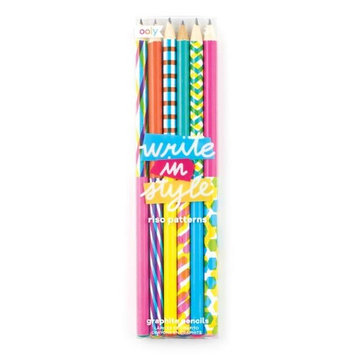 OOLY 128-136 Write In Style Graphite Pencil - Riso Patterns Set of 6 - Pack of 12
