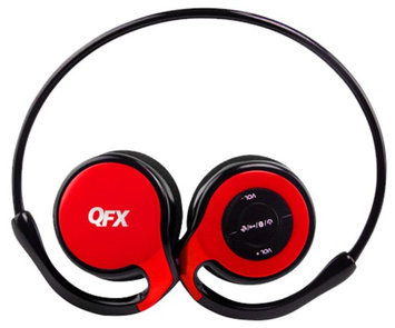 Quantumfx QFX H-151BT Sports Bluetooth Stereo Headset with Microphone - Red