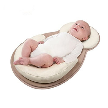 Seaskyer Portable Baby Travel Beds, Nursery Folding Baby Bed, Portable Bassinet Crib, Sleeping Pad with Nursing Pillows Infant, As A Diaper Bag for Newborns Infant Toddler Cradle