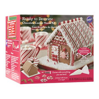Wilton Ready to Decorate Chocolate Cookie House Decorating Kit, Pre-Assembled