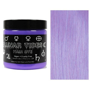 Lunar Tides Hair Dye - Iris Pastel Purple Semi-Permanent Vegan Hair Color (4 fl oz/118 ml)