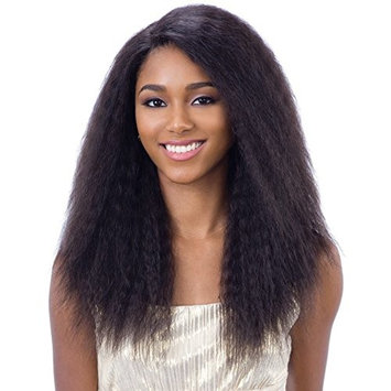 Naked Unprocessed Brazilian 100% Human Hair Deep Invisible L-Part Lace Front Wig - NATURAL 201