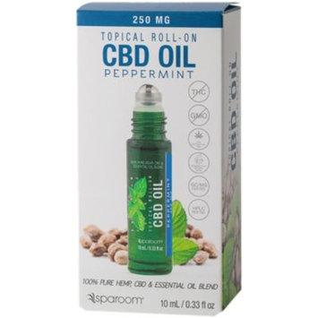 CBD Essential Oil Roll On - PEPPERMINT (0.33 Fluid Ounces Oil) by SpaRoom