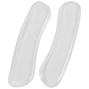 Pair Clear Silicone Self Adhesive Shoes Cushions Back Pads for Lady