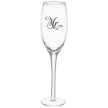 Amscan 100015 Toasting Glasses Mr. And Mrs. - Pack of 4
