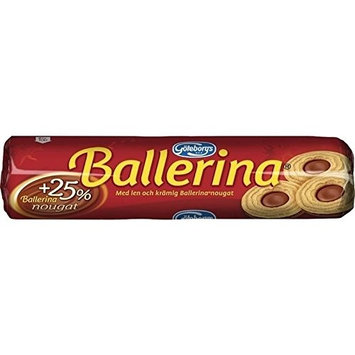 Goteborgs Ballerina Kex - Biscuits with Nougat Filling 190g - Pack of 6