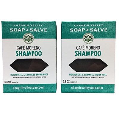 Organic Natural Shampoo Bar, Café Moreno 2X Pack, Chagrin Valley Soap & Salve