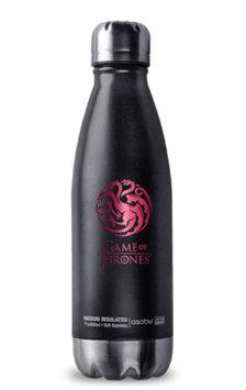 Game of Thrones 190443001778 Targaryen Stainless Steel Curved Travel Bottle