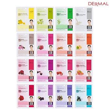 Dermal Korea Collagen Essence Full Face Facial Mask Sheet (2Pack (16 Color Pack))