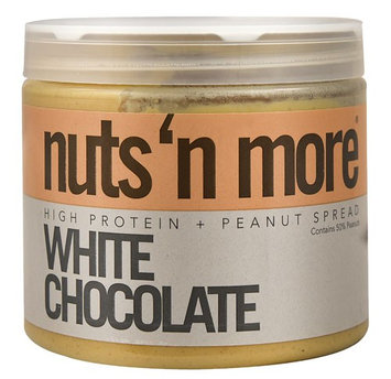 Nuts N More High Protein Peanut Spread White Chocolate - 16 oz pack of 6