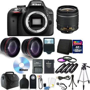 Nikon D3300 Digital SLR with 18-55mm VR II Lens - Black