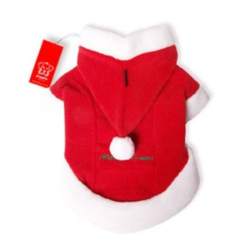 Puppia Santa Claus Winter Coat, Small, Red