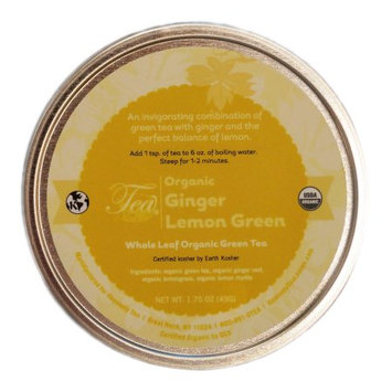 Heavenly Tea Inc. Heavenly Tea Leaves Organic Ginger Lemon Green Loose Leaf Tea Canister, 1.75 oz.