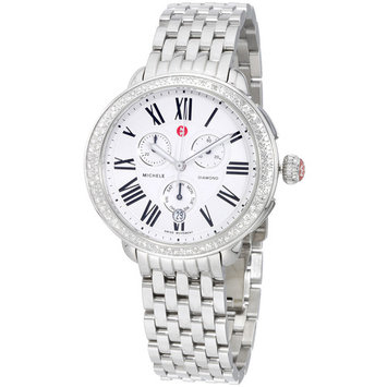 Michele Serein Silver Dial Stainless Steel Ladies Watch MWW21A000001