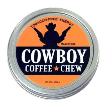 Cowboy Coffee Chew Quit Chewing Tin Can Non Tobacco Nicotine Free Smokeless Alternative to Dip Snuff Snus Leaf Pouch [1 Pack]