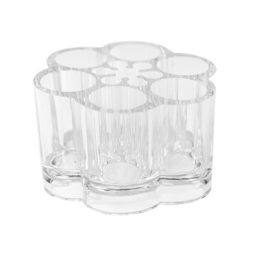 GBSTORE Acrylic Flower Cosmetic Makeup Brush Holder Makeup Organizer with 12 Spaces