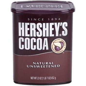 Hershey's Cocoa, Unsweetened, 23-Ounce Container (Pack of 4)