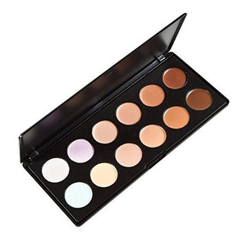 Easy lifestyles Cosmetic 12 Colors Professional Concealer Camouflage Foundation Makeup Palette Contour Face Contouring Kit